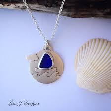 silver seagl sailboat necklace
