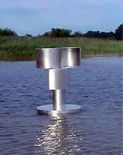 man makes wind powered pond aerator