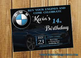 Bmw Birthday Invitation By Uniquedesignzzz On Etsy Invitaciones