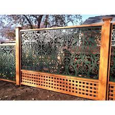Acurio Latticeworks Tree Of Life 32 In X 4 Ft Black Vinyl Decorative Screen Panel 3248pvc Bk Tol T Decorative Screen Panels Decorative Screens Fence Design