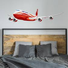 Ebern Designs Boeing 747 Wall Decal Wayfair