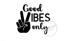 Good Vibes Only Peace Sign Fingers Car Decal Sticker Yeti Etsy