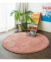 Nordic Round Rug Carpets For Living Room Pink Rugs Girls Kids Room Round Rugs For Bedroom Modern Computer Chair Mat Study Room Frieze Carpeting Carpet Mohawk From Fugao001 56 41 Dhgate Com
