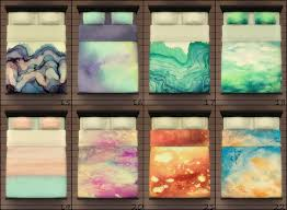 mod the sims 25 watercolor beddings