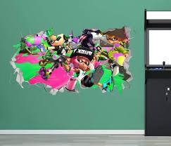 Amazon Com Splatoon Wall Decal Sticker Decoration Vinyl Mural 3d Kids Room Baby