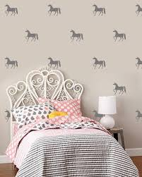Unicorn Wall Decals Girls Nursery And Bedroom Decor Unicorn Etsy White Headboard Headboard First Apartment Decorating