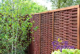 Framed Willow Hurdles Fencing Panels 1 82m X 1 82m 6ft X 6ft By Papillon 79 99