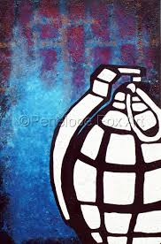 Paintings: Bomb by Penelope Fox Art