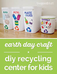 earth day craft diy recycling center