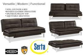 brown leather sofa bed futon valencia