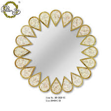 round shape mother of pearl inlay in