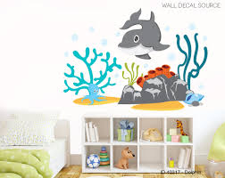 Wall Decal Source Dolphin Octopus Ocean And Coral Reef Vinyl Reusable Wall Decal Wayfair