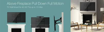 pull down full motion tv wall mount