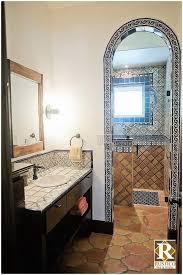 spanish style bathroom rustico tile
