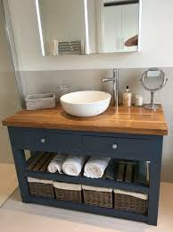 painted bathroom sink vanity unit
