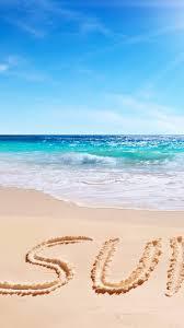 summer beach sea clouds sun