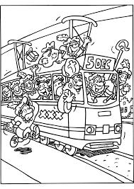 Sinterklaas Met De Tram Sinterklaas Kleurplaten Kleurplaat Com