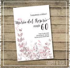 Invitaciones De Cumpleanos 60 Maria Del Rosario En Espanol