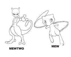 Legendary Pokemon Coloring Pages Mew