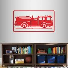 Vinyl Decal Fire Truck Firefighter Fireman Car Kids Boys Room Wall Sticker 2075 Ebay