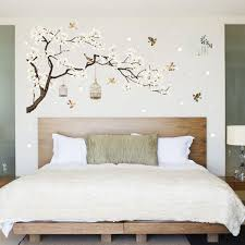 White Blossom Tree Branch Wall Sticker Cherry Blossom Decals Mural Decor Sale Banggood Com