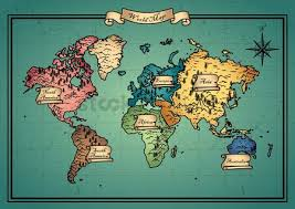 free old world map stock vectors