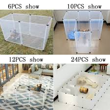 Run Cage Foldable Rabbit Transparent Dog Fence Puppy Iron Diy Pet Fence Shopee Philippines
