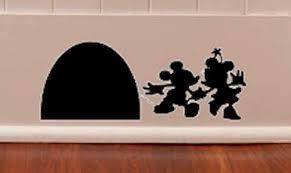 Amazon Com Black Castle Mickey Minnie Mouse Free Hole In Wall Disney Castle Disney Kids Baby Living Room Kitchen Girls Teens Moms Dads Boys Walls Home Decorations Vinyl Sticker Sticker Handmade