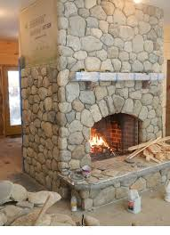 diy faux river rock fireplaces diy