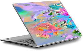 Amazon Com Skin Decal For Dell Xps 13 9370 9360 9350 Laptop Vinyl Wrap Cover Watercolors Vibrant Floral Paint Computers Accessories