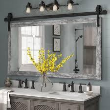 abraham barnwood wall accent mirror