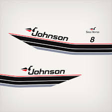 1985 Johnson 8 Hp Decal Set