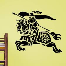 Knight Riding On His Horse Wall Sticker Decal World Of Wall Stickers
