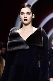 dark lip and high glamour hair