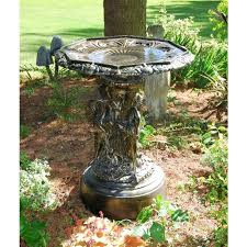 cast aluminium swan bird bath table