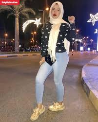 صور محجبة مصرية بالجينز الضيق ي فصل سيقانها جميلة ومثيرة
