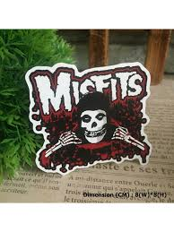 Misfits Skull Ghost Hipster Indy Graphic Art Waterproof Vinyl Decal Sticker Skullangel Unique Handmade Clothing Embroidered Patches Waterproof Stickers For Diy Projects