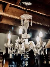 vintage crystal chandelier recycling