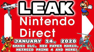 LEAKED Nintendo Direct January 14, 2020 ...