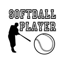 Softball Player Vinyl Sticker