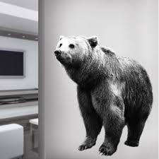 Peel And Stick Bear Wall Decal Life Size Animal Wall Graphics