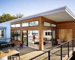 wooden house contemporary open floor
