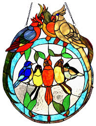 bird tiffany glass featuring birds