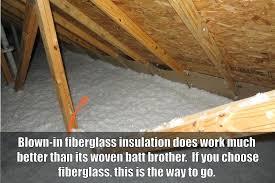 blown in fiberglass insulation photo of