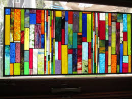 stained glass hanging panels for