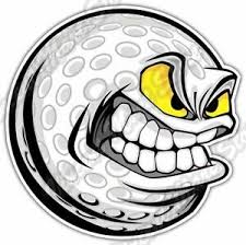 Angry Smile Golf Ball Clubs Course Funny Car Bumper Vinyl Sticker Decal 4 X5 Ebay