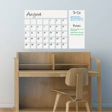 Dry Erase Calendar Decal White Writable Wall Calendars Touch Of Modern