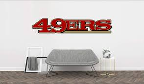 Amazon Com Football Logo 49ers Removable Wall Decal Vinyl For Home Decoration 40 X8 Arts Crafts Sewing