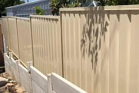Installing Retaining Under Colorbond Fencing Mahers Fencing
