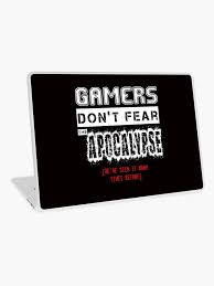 vinilo para portatil gamer quotes de geekmachine redbubble
